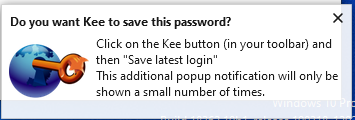 do you want kee to save this password